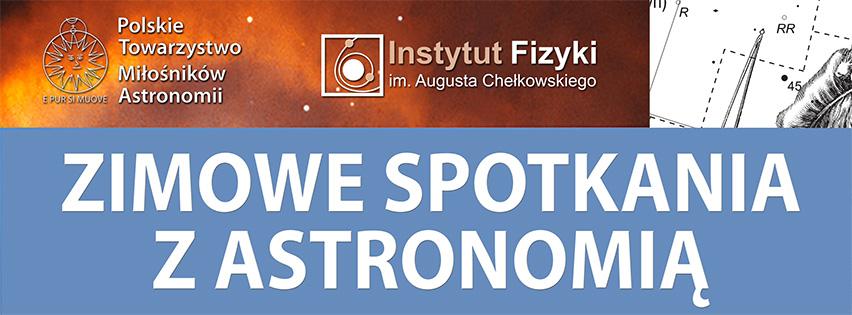 Zimowe spotkania z astronomią - zaproszenie