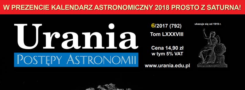 Dostępny już jest najnowszy numer Uranii - PA