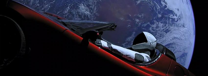 Falcon Heavy z samochodem w kosmosie