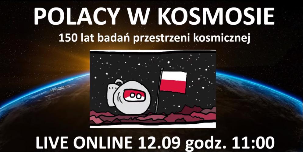 PTMA / Transmisja wykładu pt. Polacy w kosmosie – 150 lat badań przestrzeni kosmicznej